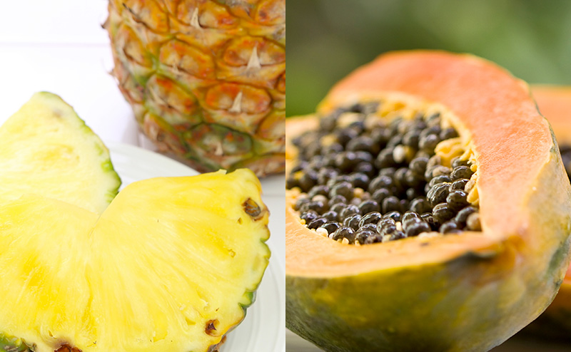 パイナップルエキスとパパイン酵素
