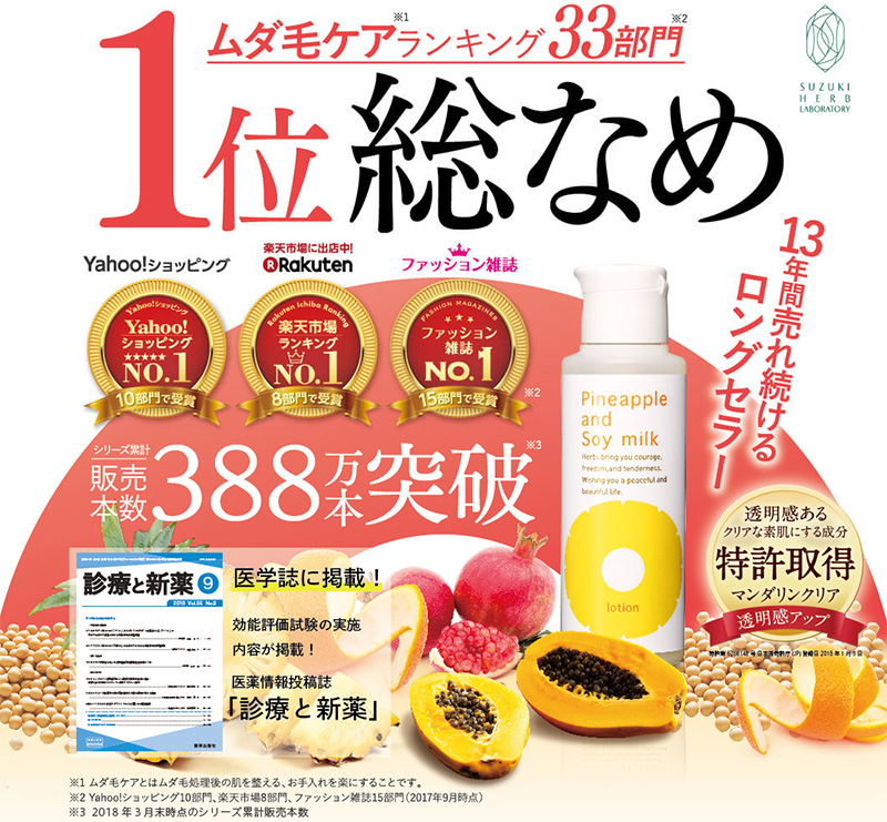 パイナップル豆乳ローション初回限定キャンペーン